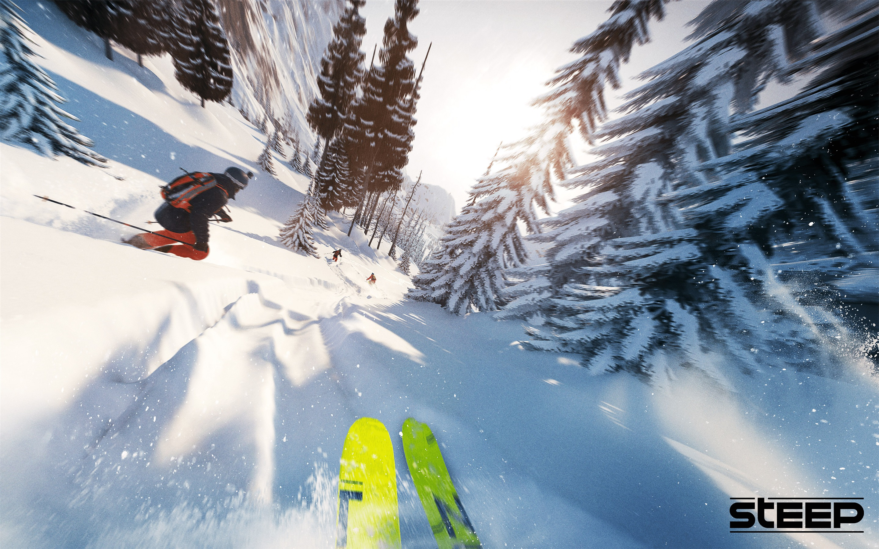 Ski competition Steep Game 4K - 2880x1800 wallpaper download