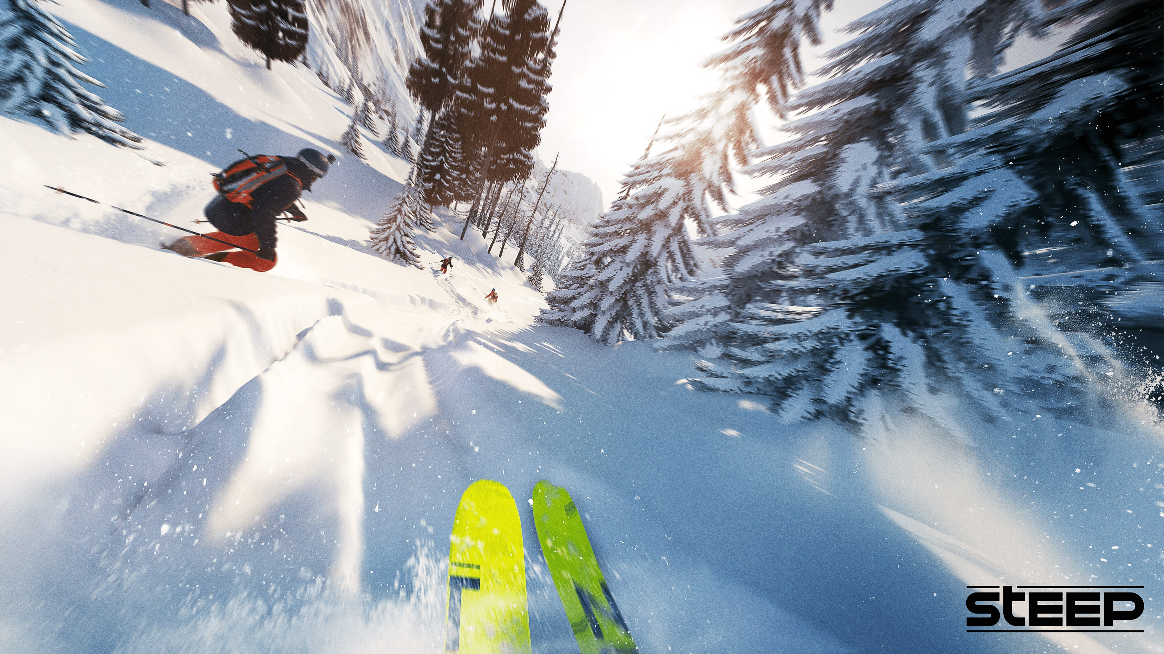 Ski competition Steep Game 4K - 3840x2160 wallpaper download