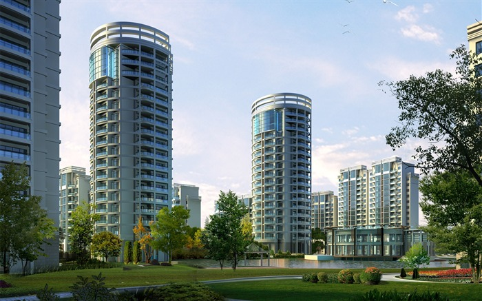 3D Architectural Rendering of Residential Buildings 02 Views:6388