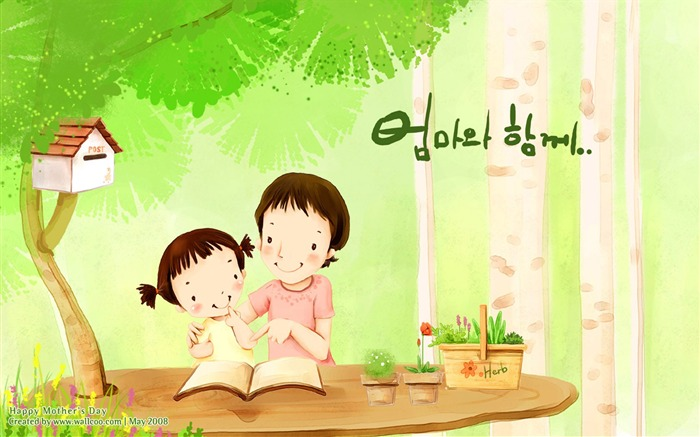 HD Childrens illustration of Mother Day and Family Love Views:29805