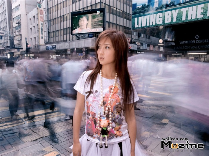 He Jie pictures desktop wallpaper - Music Magazine Views:1404