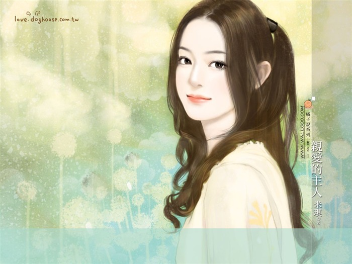 Romantic Illustrations of Sweet Girls in Soft Pastel colors Views:5841