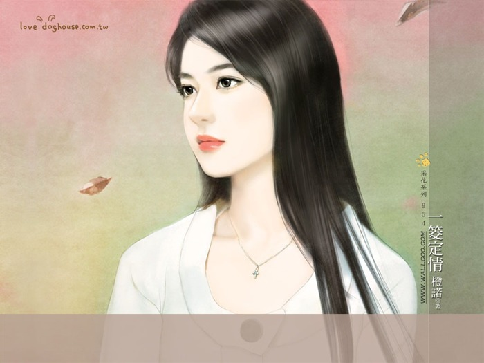 Romantic Illustrations of Young Girls in Soft Pastel colors2 Views:3380