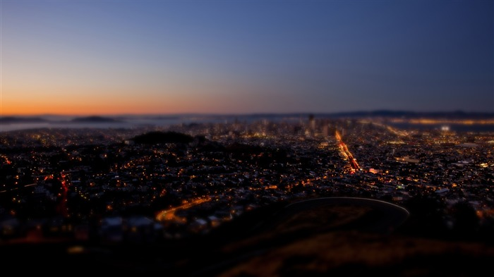 San Francisco Twin Peaks shift photography wallpaper Views:7296