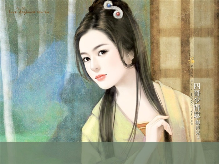 Sweet Girl Illustrations - Beautiful Chinese Girl in Ancient Costume Views:13128