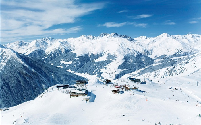 Beautiful Snowsacpe of Alps Alps Winter Lodgings - Alps Winter Vacation Views:19081