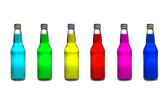 Creative Design Bottles with colorful fluid Views:10762