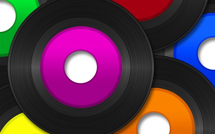Creative Design Colorful Music Discs2 Views:6341