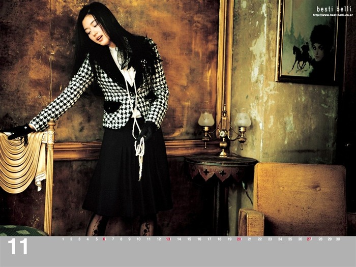 Jun Ji-hyun endorsement Korean clothing brand besti belli wallpaper 21 Views:1317