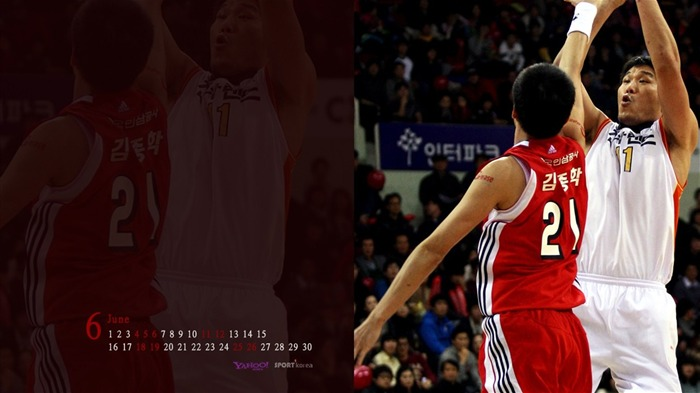 June Calendar Basketball wallpaper Views:4765