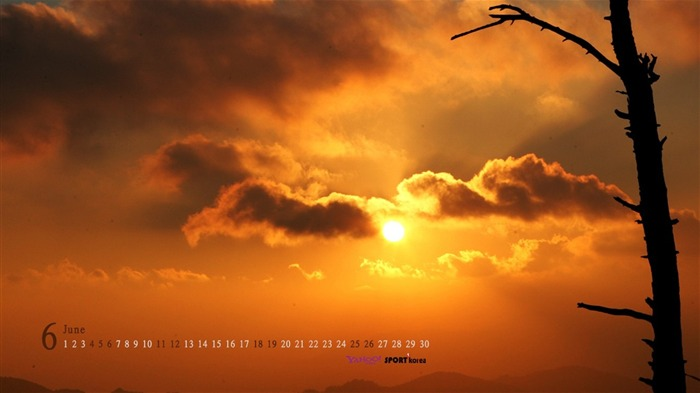 June Calendar Sunset Wallpaper Views:2314