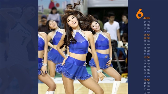 June Calendar cheerleading dance wallpaper Views:5118