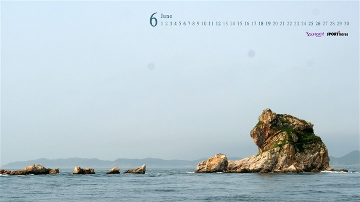 June Calendar sea rock wallpaper Views:4939