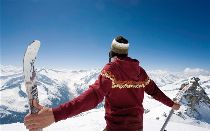 On the Top on the Mountain - Alps Winter Vacation Views:8149