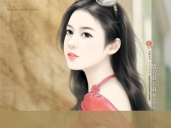 Sweet Charming Faces Angelic Sweet Girl Paintings Wallpaper