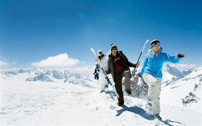 Winter fun in Alps Ski Resort - Alpine Skiing Vacation Views:12457