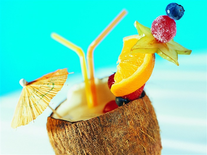 tropical fruit drink - Summer Still Life Photography logo Views:14188