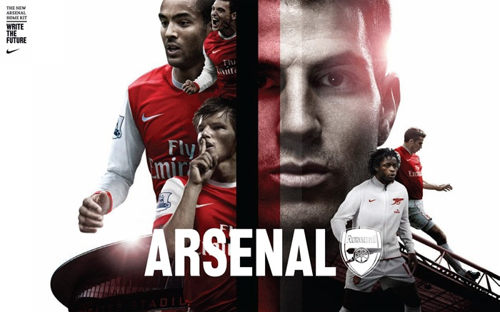 Arsenal home kit 2010-11 wallpaper Views:8393