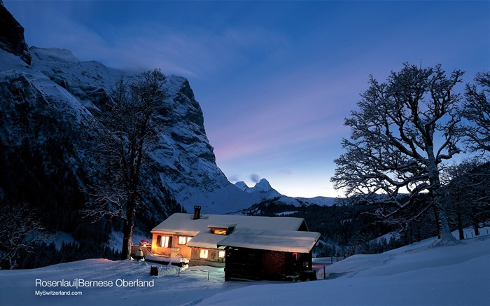 Switzerland Winter snow and ice tour features wallpaper Views:10157