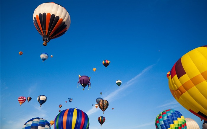 Colorful hot air balloons in sky 01 Views:6691