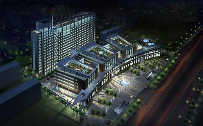 建筑渲染是建筑设计的概念图,往往    计算机软件的帮助下完成.