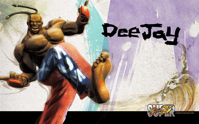Dee Jay-Super Street Fighter 4 original painting wallpaper