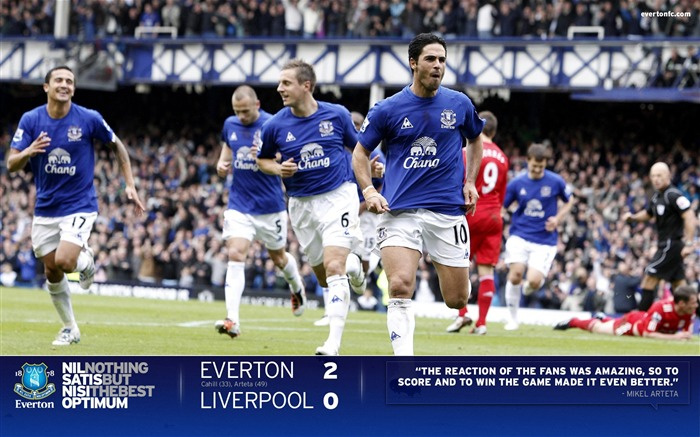Title:Everton 2-0 Liverpool-Arteta Wallpaper Views:8104