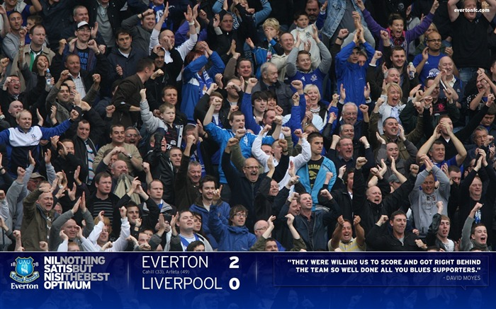Everton 2-0 Liverpool-Moyes Wallpaper 01 Views:6015