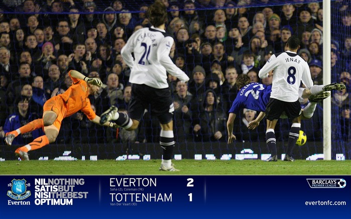 Everton 2-1 Spurs-Coleman wallpaper Views:6063