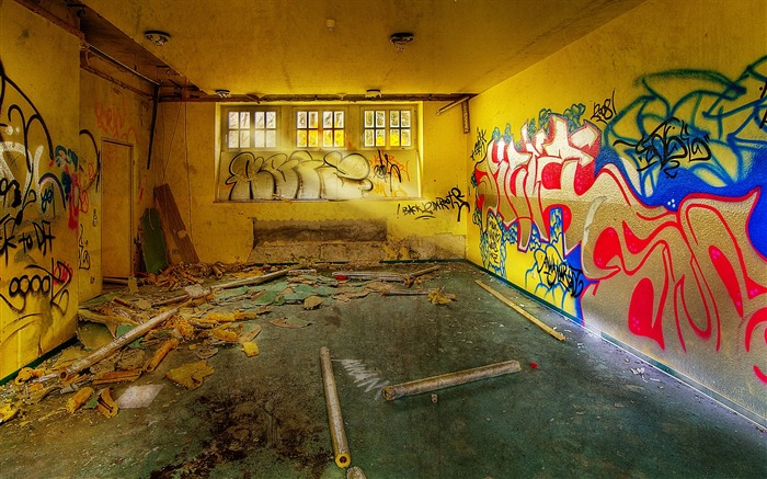 Graffiti Abandoned Post Office - Abandoned Spaces Views:11935