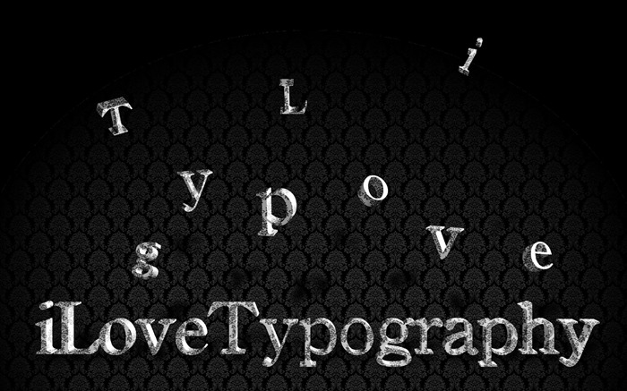 I Love Typography Wallpaper 02 Views:4742