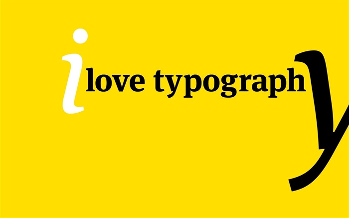 I Love Typography Wallpaper Views:4523