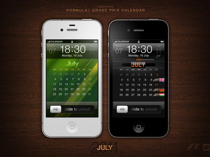 July 2011 Calendar Wallpaper second series Views:7227