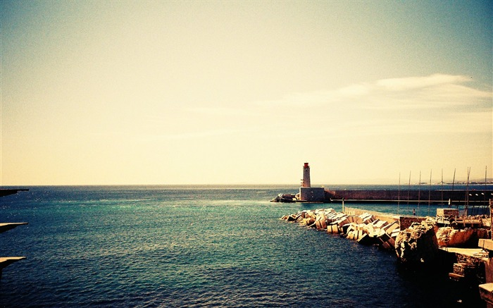 Lonely Lighthouse and Seascape Stunning Lomography Views:6729