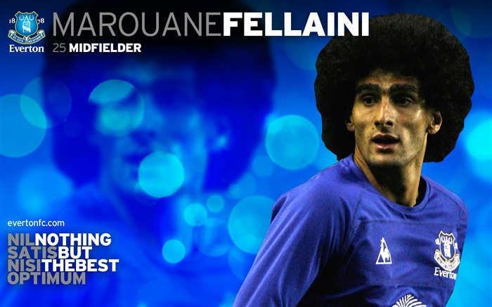 Marouane Fellaini-new look 2010-11 version wallpaper Views:6159