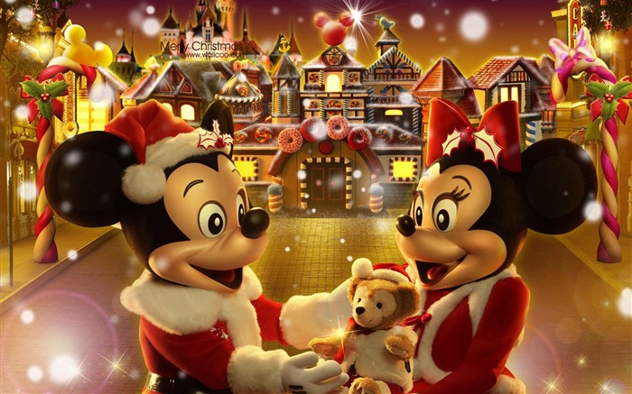 Mickey and Minnie The Gingerbread Man Christmas wallpaper fairy village Views:52080