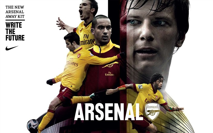 New Arsenal Away Kit 2010-2011 wallpaper Views:6460