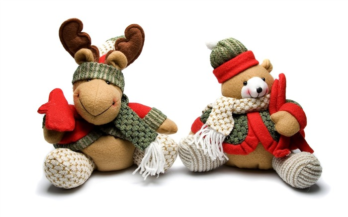 Picture- Christmas Toy - Teddy bear and reindeer Views:11853