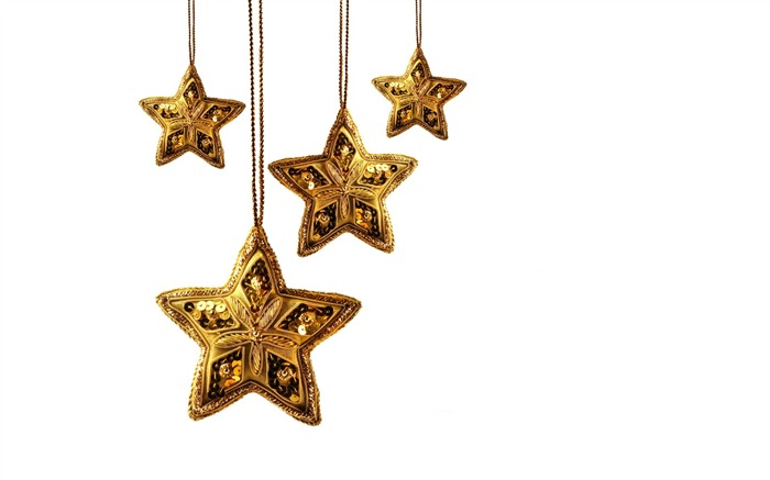 Picture- Golden Christmas Star ornament- Christmas objects Views:12428