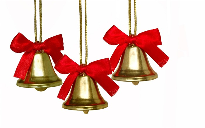 Picture- Golden Christmas bell- Chritmas objects and Element Wallpaper Views:17720