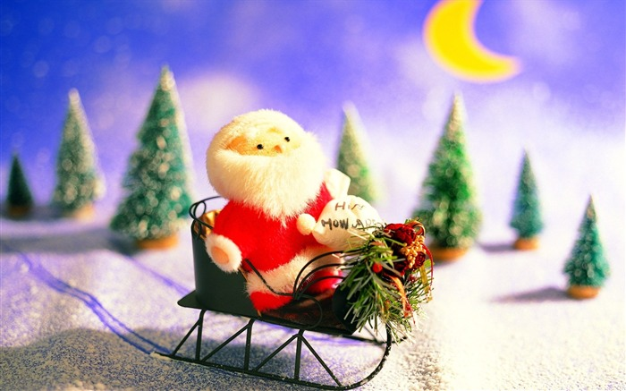 Picture- Lovely Toy Sana Claus- Christmas Decorations Wallpaper Views:5098