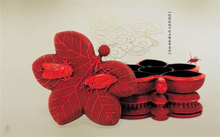 Qianlong section seat box with lacquered Maple Leaf wallpaper Qiuchong Views:4192