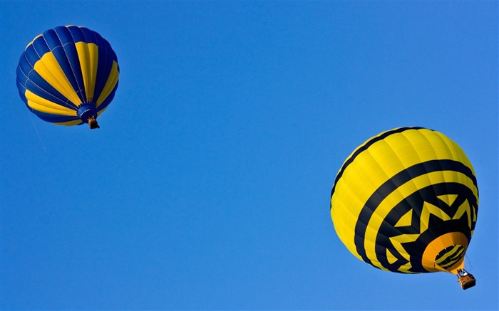 Sky diving - hot air balloons flying in the sky Views:3277