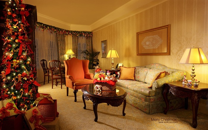 St Ting room layout - Disneyland Christmas theme suites wallpaper Views:11263