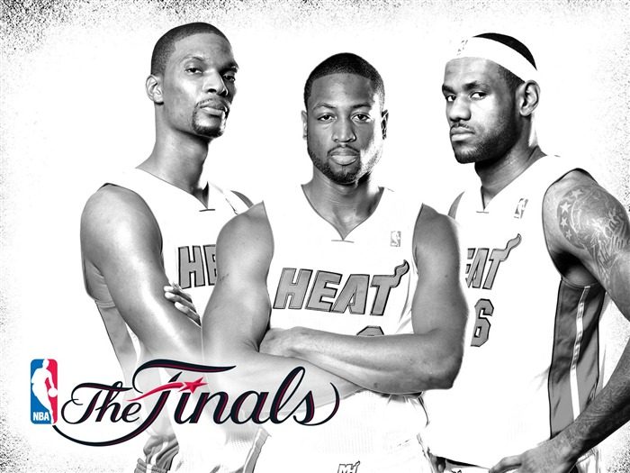 White Heat - Miami Heat 2010-11 season-NBA Finals Wallpaper Views:14414