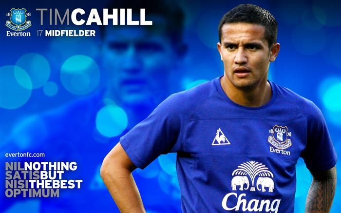 Tim Cahill-new look 2010-11 version wallpaper Views:4797