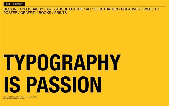 Typography is Passion wallpaper Views:5348