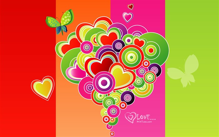 Valentines Day vector design wallpaper Views:23279