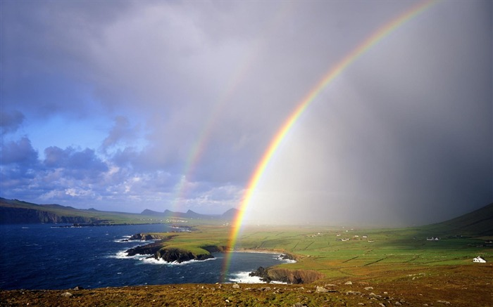 36 Ireland-Barre-Fei Lite rainbow wallpaper on the Gulf Views:19379