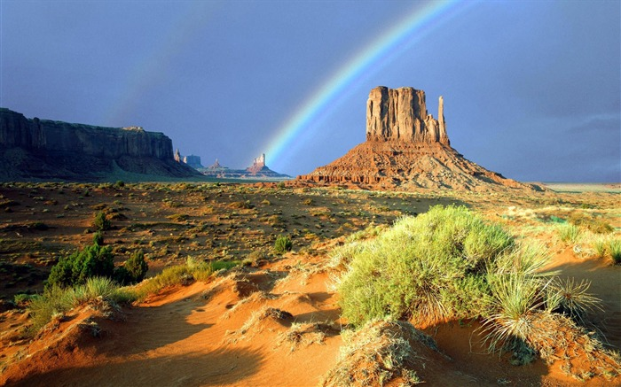 37 Monument Valley on the Rainbow Wallpaper Views:8692